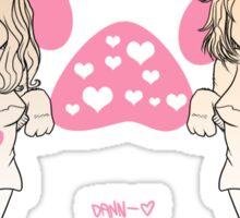 Claire & Erin as Cat Girls Sticker