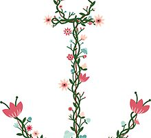 Floral Anchor by Heather Clauson