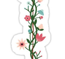 Floral Anchor Sticker