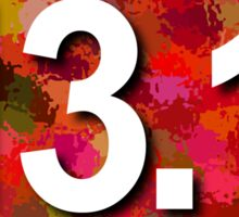 13.1 Oval Sticker - RED Sticker