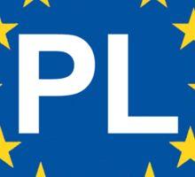 POLAND Oval EU Sticker Sticker