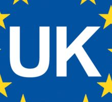 United Kingdom Oval EU Sticker  Sticker