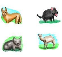 Australia - Fauna Stickers by David Fraser