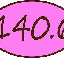 140.6 Ironman Triathlon (pink/brown) by monkeyjenn