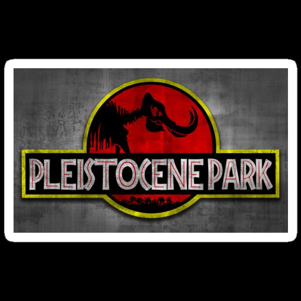 Pleistocene Park STICKER! by Punksthetic