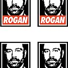 Rogan Stickers (4 Small) by Montia Garcia