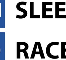 Eat Sleep Race Repeat - Sticker Sticker