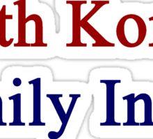 South Korean Family Inside  Sticker