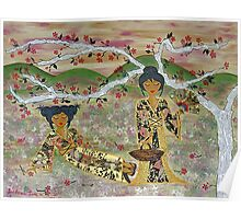Japanese Sisters ~ tranquility garden Poster