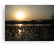 Sunset over West Lake Canvas Print