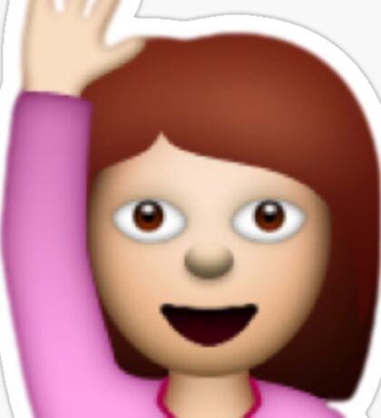 Hand Raise Emoji Sticker