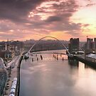 Newcastle and Gateshead Skyline by Great North Views