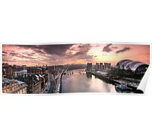 Newcastle and Gateshead Skyline Poster