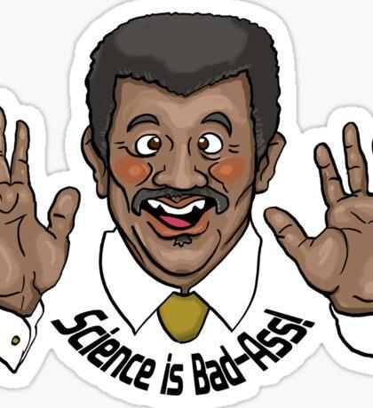 "Neil deGrasse Tyson ""Science is Bad-Ass!"" Sticker"