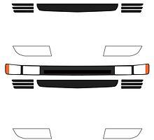 Nissan 300ZX Z32 Headlights Sticker by ApexFibers