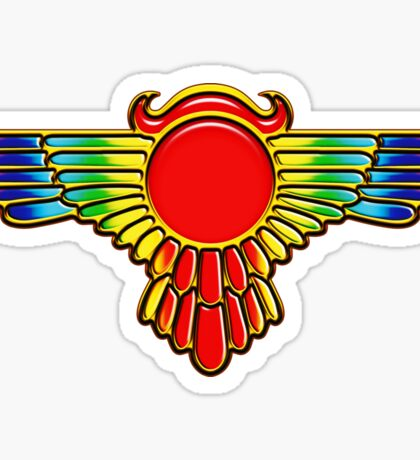 Winged Globe, Symbol of the perfected soul, Egyptian Sun Disc  Sticker