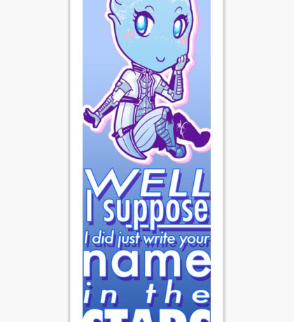 Mass Effect - Liara 'I Wrote Your Name in the Stars' Sticker