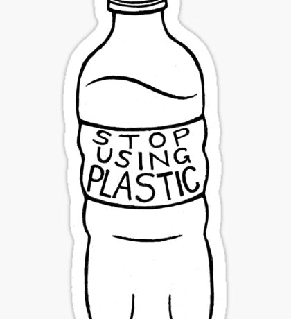 stop using plastic! Sticker