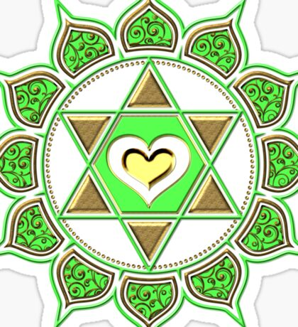 Anahata Heart Chakra Centre Of Love & Compassion Sticker