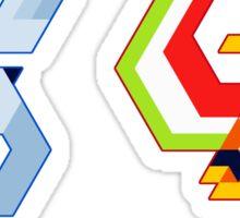 Trixel Lugia & Ho-oh Sticker