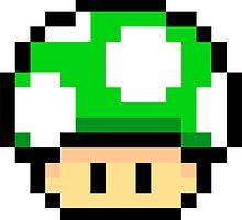 Green Mario Mushroom by Neysa Tapanes