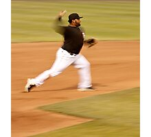 Pablo Sandoval in Motion.. Throwing to First Base Photographic Print