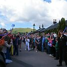 Olympic Torch going into Luss, Scotland by ElsT