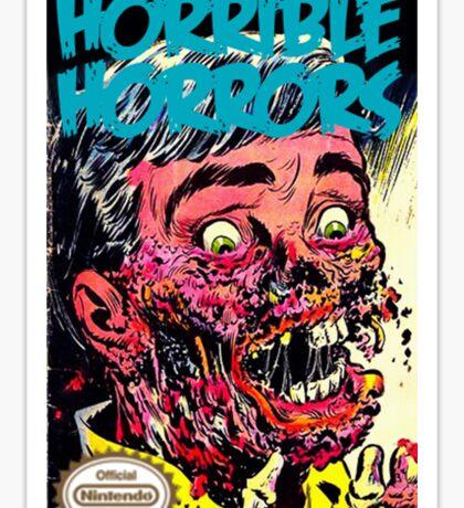 Horrible Horrors NES Sticker