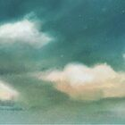 Cloud Diptych 1 by Joan A Hamilton