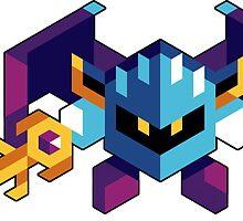 Trixel Meta Knight by etall