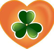 Lucky Heart Clover Nr. 06 by Silvia Neto