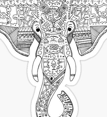 Elephant Head Sticker