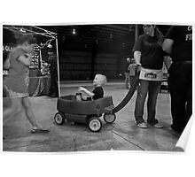 Kid in Wagon Poster