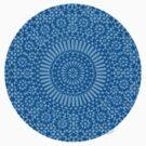 small blue chakra mosaic circle girly by offpeaktraveler