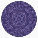 small indigo third eye chakra mosaic circle girly by offpeaktraveler
