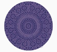 small indigo third eye chakra mosaic circle girly by offpeaktraveler