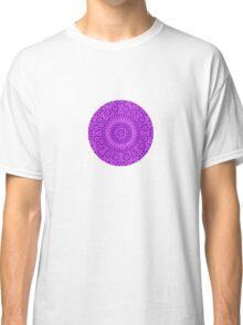 small purple crown chakra mosaic circle girly Classic T-Shirt