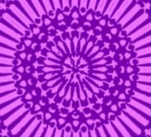 small purple crown chakra mosaic circle girly Sticker