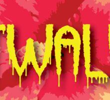 CATWALKIN' Round Hibiscus Logo  Sticker