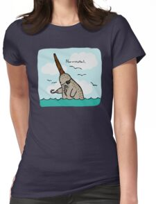 Narrrwhal Colored Womens Fitted T-Shirt
