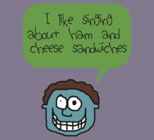 My love for a Ham & Cheese sandwich Kids Tee