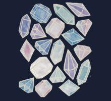 Pastel Watercolor Gems Kids Tee