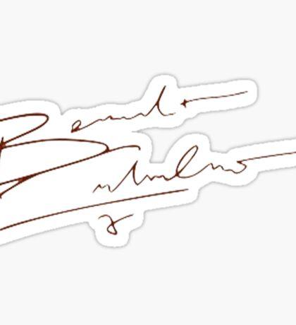 Benedict's Signature.  Sticker