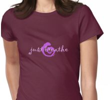 just breathe purple (dark tee) Womens Fitted T-Shirt
