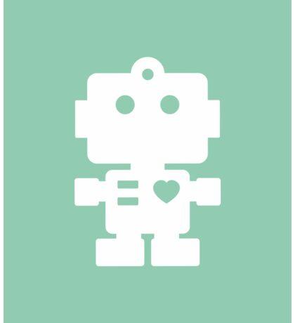 Robot - fresh spearmint & white Sticker