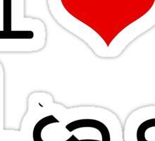 I love slash Sticker