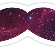 Galaxy Mustache Sticker