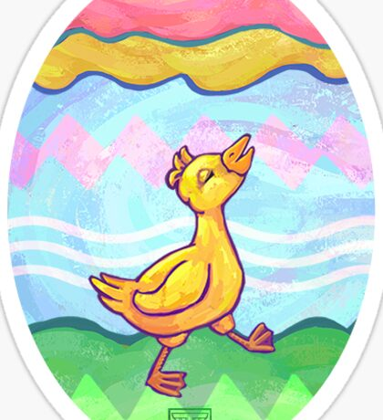 Easter Egg and Duck Sticker