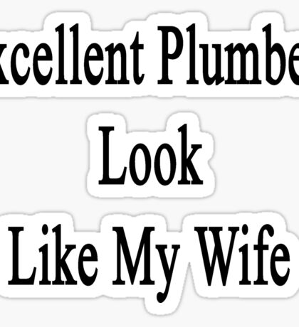 Excellent Plumbers Look Like My Wife  Sticker