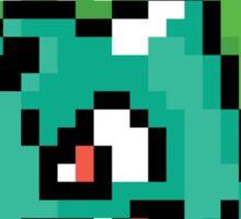 Pocket Monster Green Pixel Art Stickers Sticker